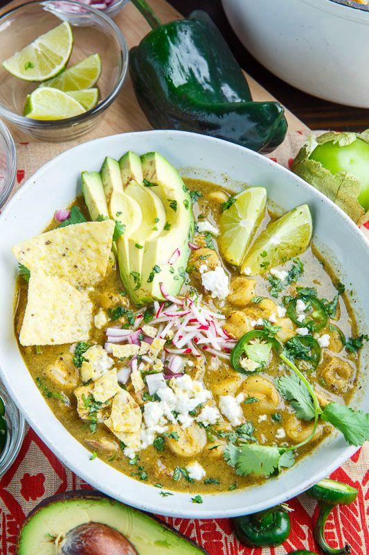 Pozole Verde de Pollo (Green Mexican Hominy and Chicken Soup)
