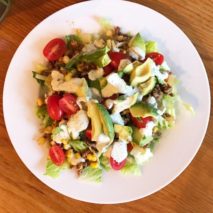 Taco Salad with Cilantro Ranch Dressing