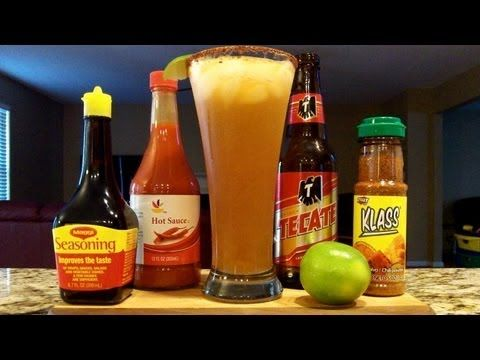 ▶ How To Make A Michelada Beer Cocktail / Mixed Drink ((RECIPE INCLUDED)) DJs BrewTube -  MICHELADA BEER COCKTAIL / MIXED DRINK RECIPE  1) Tall glass 2) Ice Cubes 3) 1 oz Fresh Squeeed Lime Juice 4) 12-18 Dashes Each of Magi & Hot Sauce 5) Klass or Tajin Seasoning (Rimmer) 6) 1 - 12 oz Mexican Lager Beer  PREP. = Combine ice cubes, hot sauce, magi sauce, lime juice, and the beer (( last ))into the tall Klass / Tajin rimmed glass, garnish with a lime wedge.
