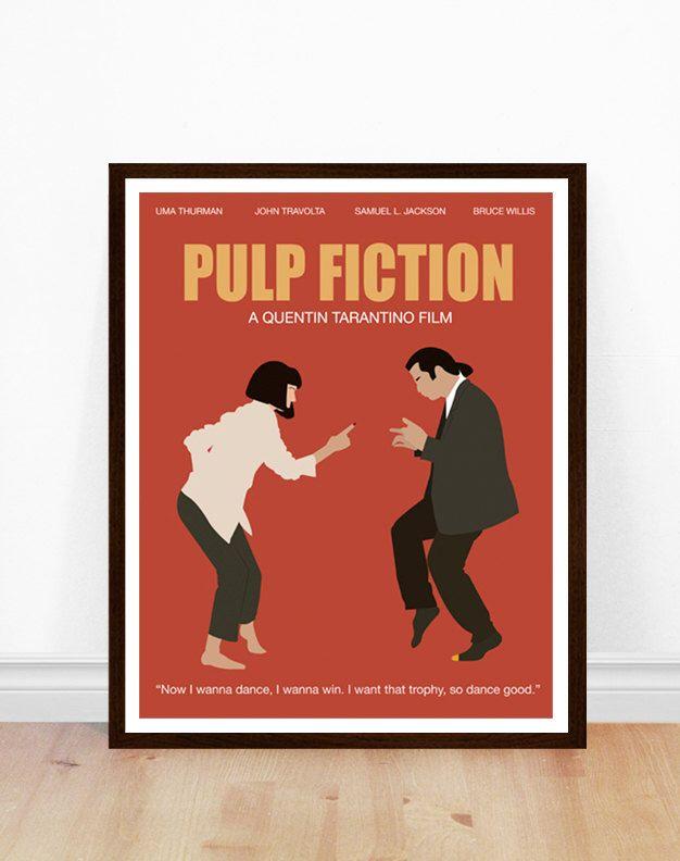 Pulp Fiction Poster, Minimal Art, Pulp Fiction Print, Filmplakat, Pulp Fiction Kunst, minimalistische Portrait, Pulp Fiction Film Kunst, tanzen von PoppermostPrints auf Etsy https://www.etsy.com/de/listing/467104285/pulp-fiction-poster-minimal-art-pulp