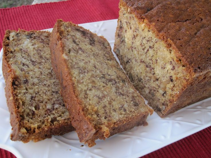 In the oven now, but smells good enough to pin. I didnt have buttermilk so I used 1tbs lemon juice with less than a cup of milk. Lynda's Recipe Box: Very Moist Bannana Bread with Walnuts