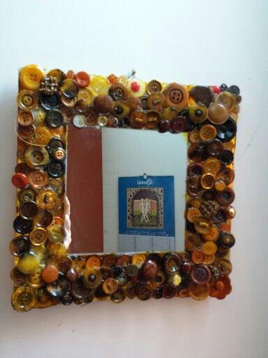 #cornice # specchio #bottoni #riciclo