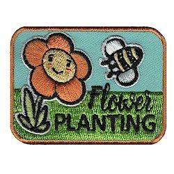 Flower Planting Fun Patch. This cute and colorful Flower Planting fun patch is great addition to any Girl Scout vest whether you are planting flowers for community service or as part of a petal, journey or badge. Available at MakingFriends®.com
