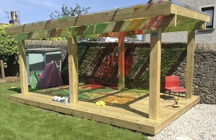 """Gorgeous shelter at Maisie's Children's Centre - from I'm a teacher, get me OUTSIDE here! ("""",)"""