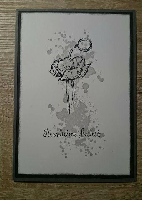 Kreativ-verliebt: Beileidskarte