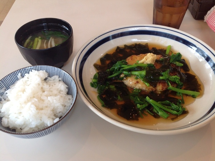Tofu hamburger meal Set(Rice & Miso soup) #Tofu #Tokyo #Japan