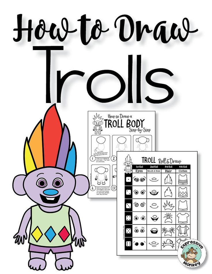 get your students drawing with an irresistible free troll drawing activity from expressive monkey drawing activitieskids drawing gamesdrawing