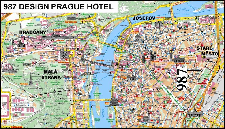 Prague Czech Republic Tourist Map - Prague • mappery