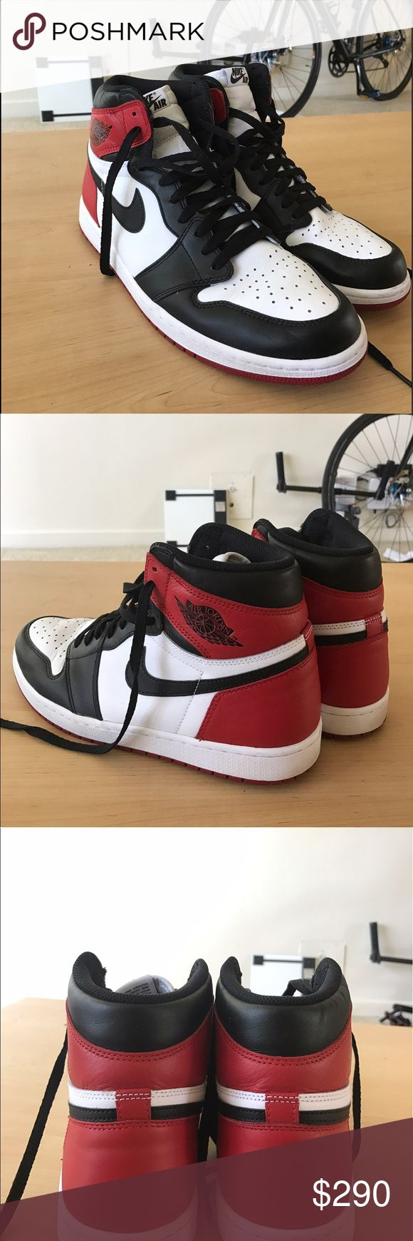 Jordan 1 Black Toe Size 11 Worn once. Perfect condition. Don't low ball me. Air Jordan Shoes Athletic Shoes