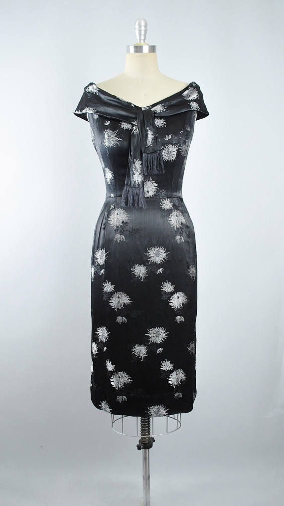 Vintage 50s ALFRED SHAHEEN Wiggle Dress / 1950s Hawaiian