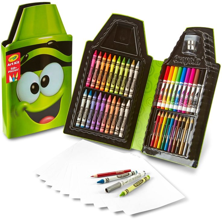 Crayola Tip Art Case-Electric Lime - electric lime