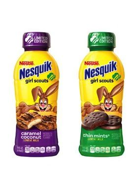 Nestlé Introduces Nesquik Girl Scout Cookie Beverages. More of a licensing deal than a cause product. But I don't have a licensing board! :)