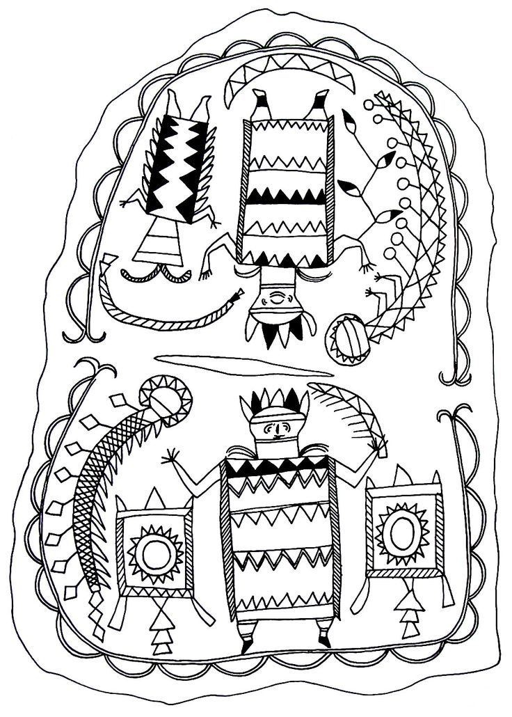 medicine shirt worn by a shaman from the apache indians coloring book page - Native American Coloring Book