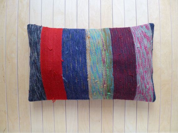 Decorative Throw pillow Hand woven Wool by PillowTalkOnEtsy, $32.00