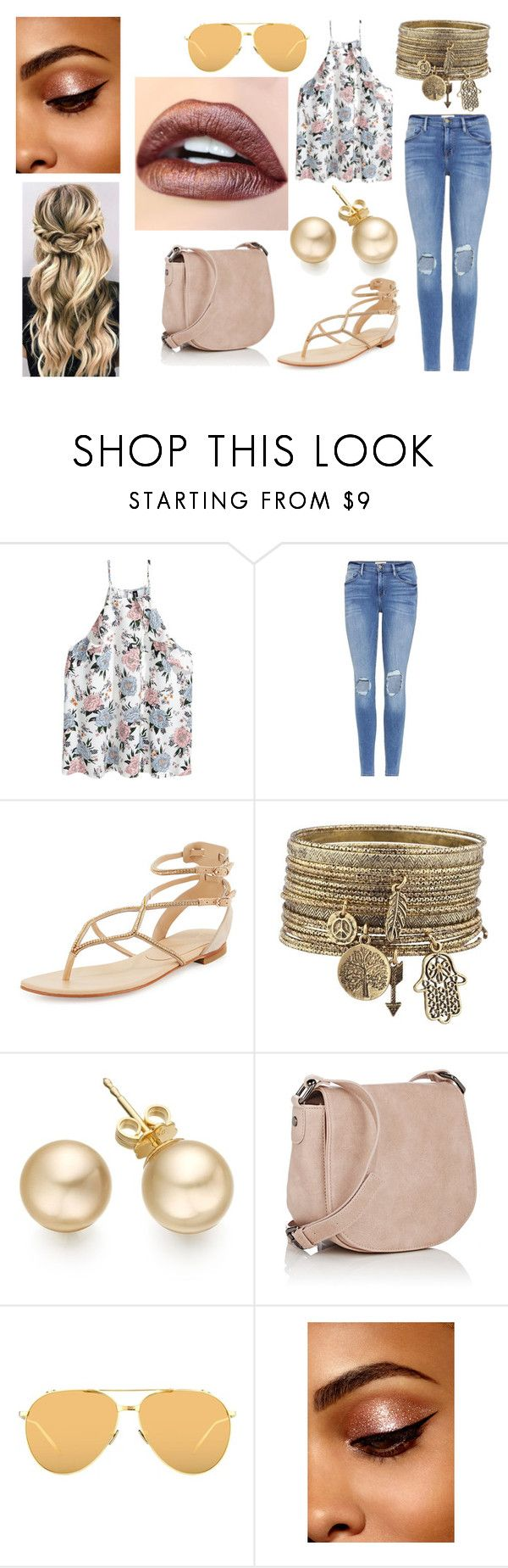 """Cute Summer outfit"" by lewandowski2017 ❤ liked on Polyvore featuring Frame, Lola Cruz, Deux Lux and Linda Farrow"