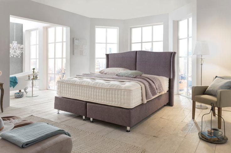 Mit Elizabeth II weht mehr als nur ein Hauch von Aristokratie durch die Gemächer. Das klare, minimalistische Design unterstreicht die besondere Atmosphäre im Raum. Luxus, Design und Eleganz, für höchste Schlafkultur. #hotelbett #boxspringbett