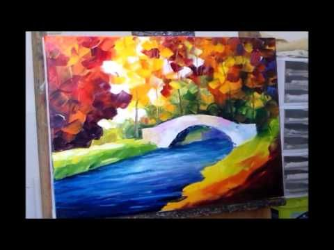 sample video lesson from leonid afremov for his palette