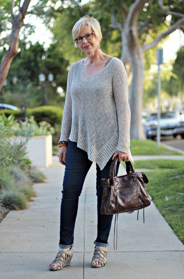Balenciaga Town bag cigare, moto bag, lariat bag, casual jeans, Adea tank, Eileen Fisher v-neck sweater