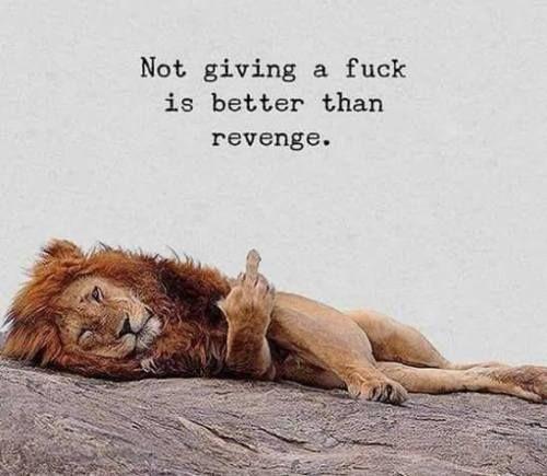 Not giving a fuck is better. ;) —via http://ift.tt/2eY7hg4