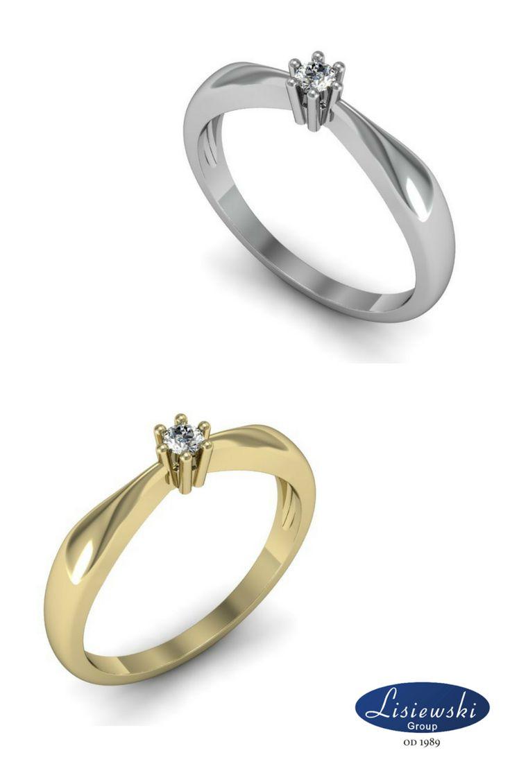 Pierścionek z diamentem. Delikatny i śliczny. || Diamond ring #ring