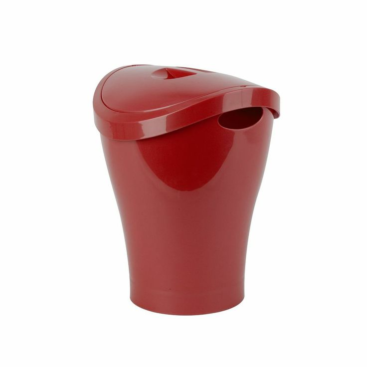 20 best images about swing top trash cans on pinterest for Red bathroom bin