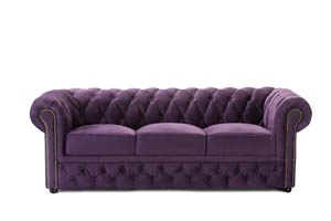 Chunky purple Chesterfields from Well Dressed Tables