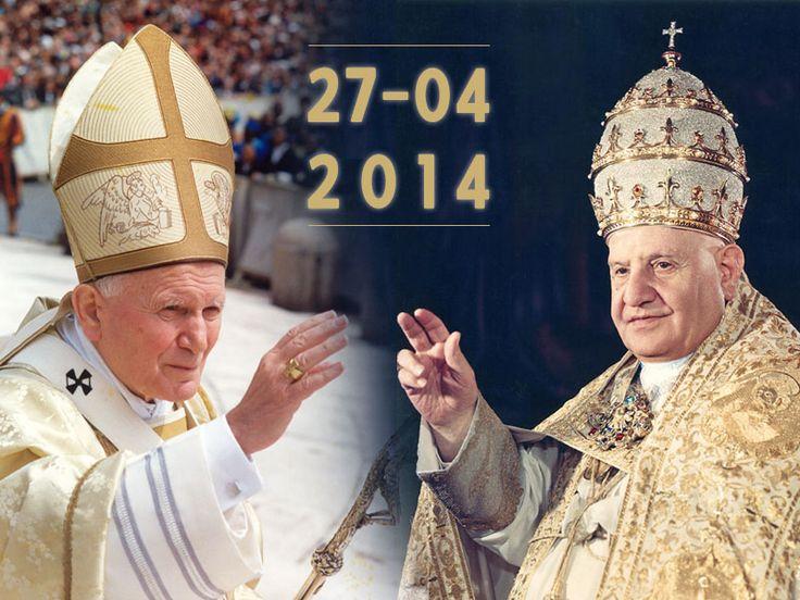 Canonisation des papes Jean-Paul II et Jean XXIII | Site d'entraide bienheureux Jean-Paul II