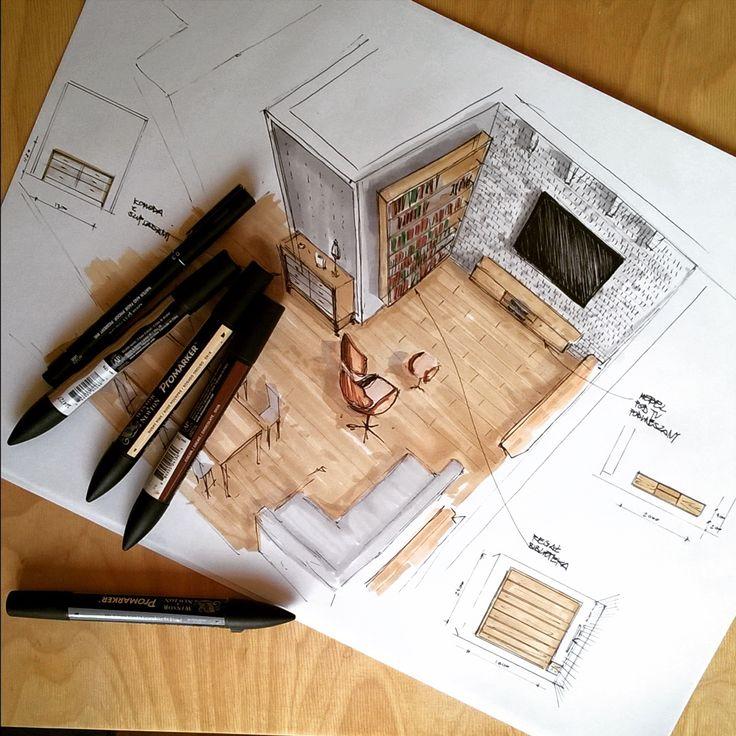 #furniture #pasja #interior #architekturawnętrz #interiordesign #rysunek #szkic #sketch #handrendering #projekt #sketcharch #instadraw #drawing #sketchart
