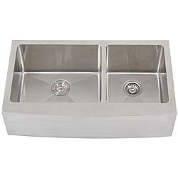 Inspirational  Ticor inch gauge Stainless Steel Curved Front Double Bowl Undermount Apron Kitchen