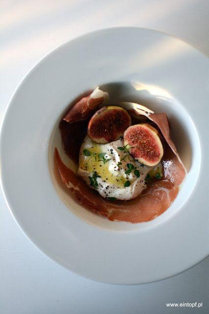 eintopf: szynka prosciutto z ricottą, figą, oliwą truflową ...