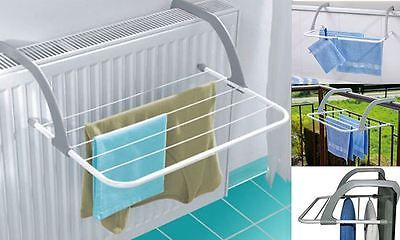 Folding Radiator Cloth Airer Rack Stand Clothes Dryer Portable Caravan Camping