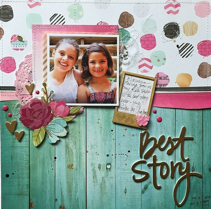 Best Story - Scrapbook.com - Combine machine stitching, doilies, flowers and more for a pretty feminine page.