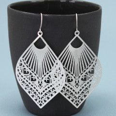 Tigertree Temple Filigree Earrings -silver