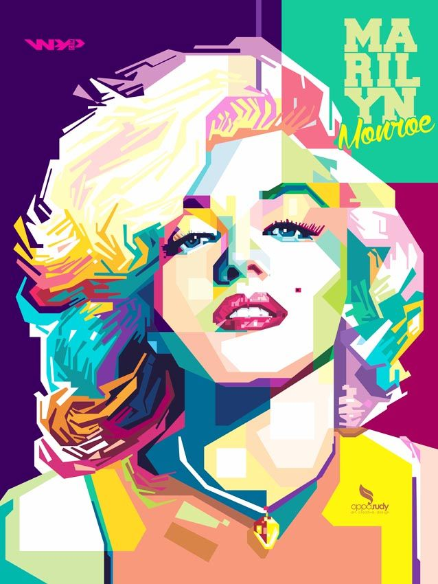 Marilyn Monroe WPAP by opparudy on DeviantArt | This image first pinned to Marilyn Monroe Art board, here: http://pinterest.com/fairbanksgrafix/marilyn-monroe-art/ || #Art #MarilynMonroe