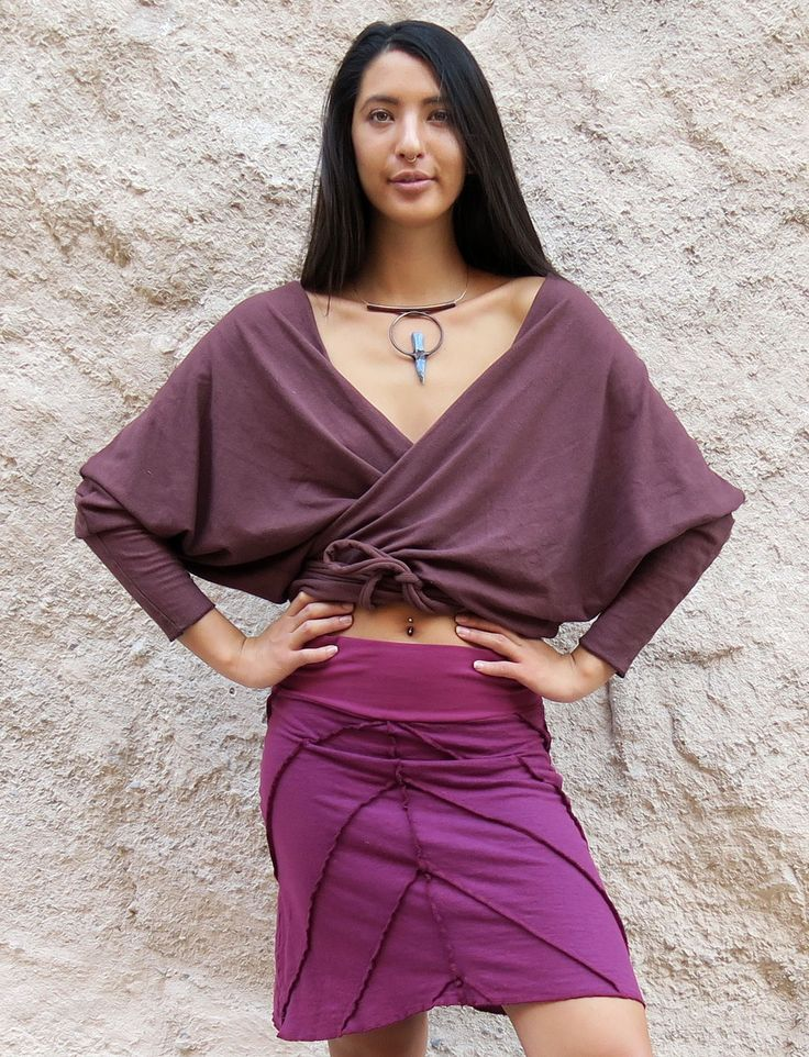 Gaia Conceptions - Butterfly Wrap Shirt, $125.00 (http://www.gaiaconceptions.com/butterfly-wrap-shirt/)
