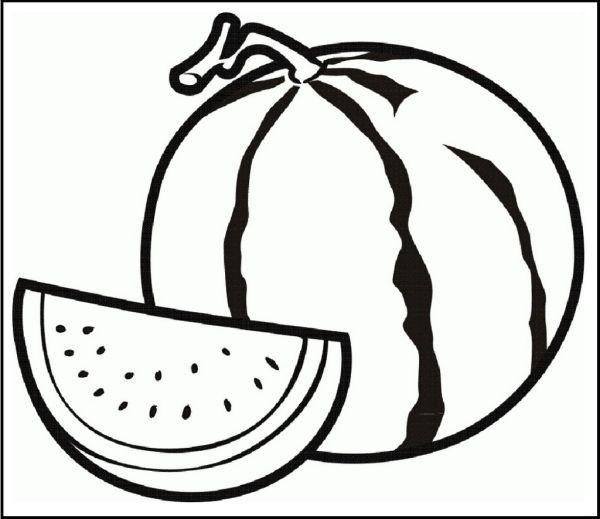 Watermelon Coloring And Activity Page Semangka Buah Warna
