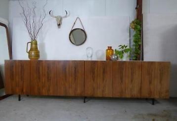XXL dressoir 3.10 m vintage design lowboard retro jr 60 kast