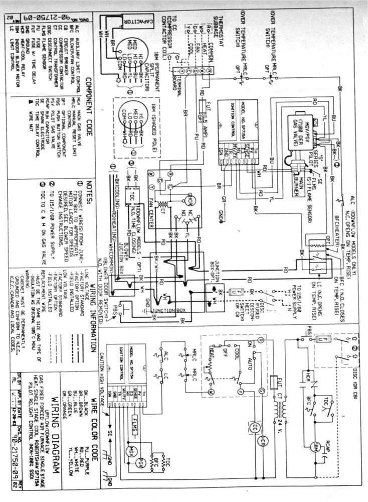 gas furnace thermostat wiring diagram in 2020 Electrical