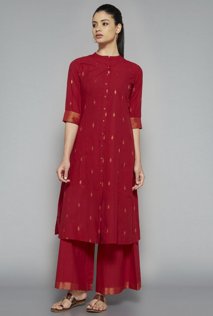 Utsa by Westside Red Solid Palazzo