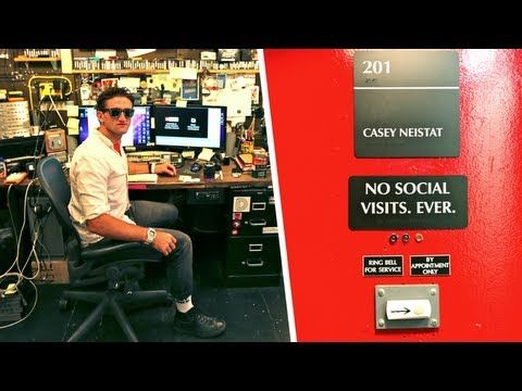 Casey Neistat's Wildly Functional Studio  the studio of my dreams.  Love the functionality and organization of his space.