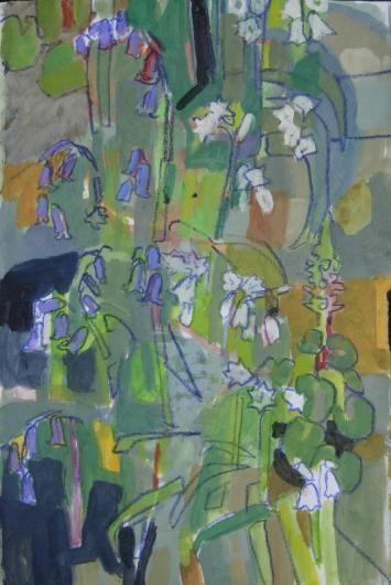 Bluebells, wild garlic and navelwort by Matthew Underwood