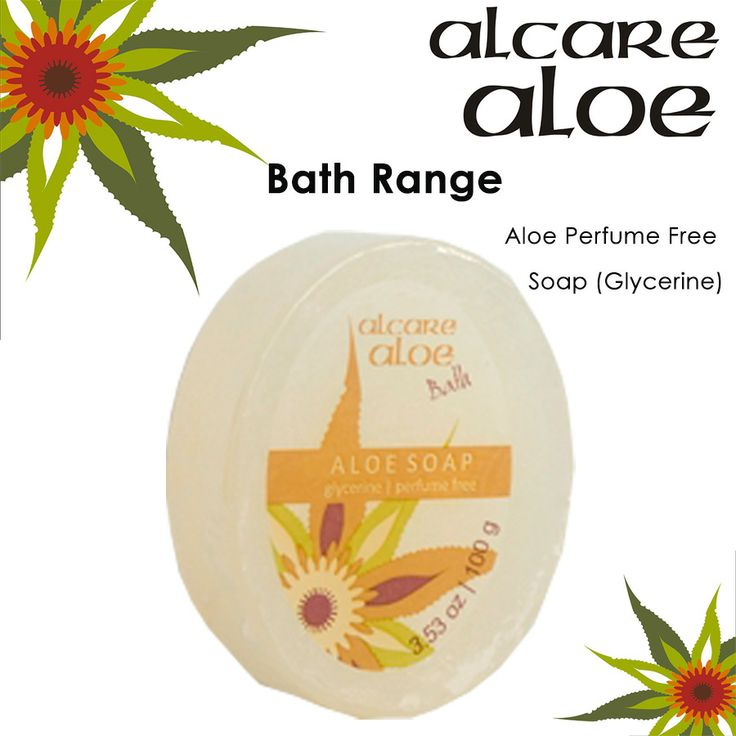 Aloe Perfume Free Soap (Glycerine).  Glycerine based Aloe ferox is harvested in the wild in an ecologically friendly way. Order online: http://on.fb.me/1fJVdeb #bath #aloe #soap