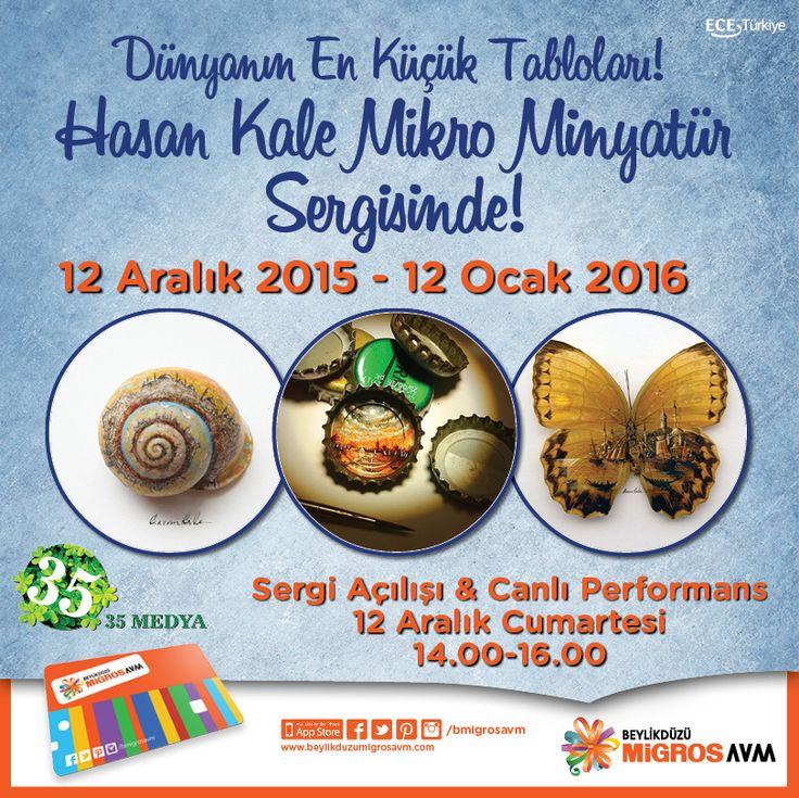 Dünyanın En Küçük Tabloları!  Hasan Kale Mikro Minyatür sergisi 12 Aralık Cumartesi günü #BeylikdüzüMigros AVM'de.