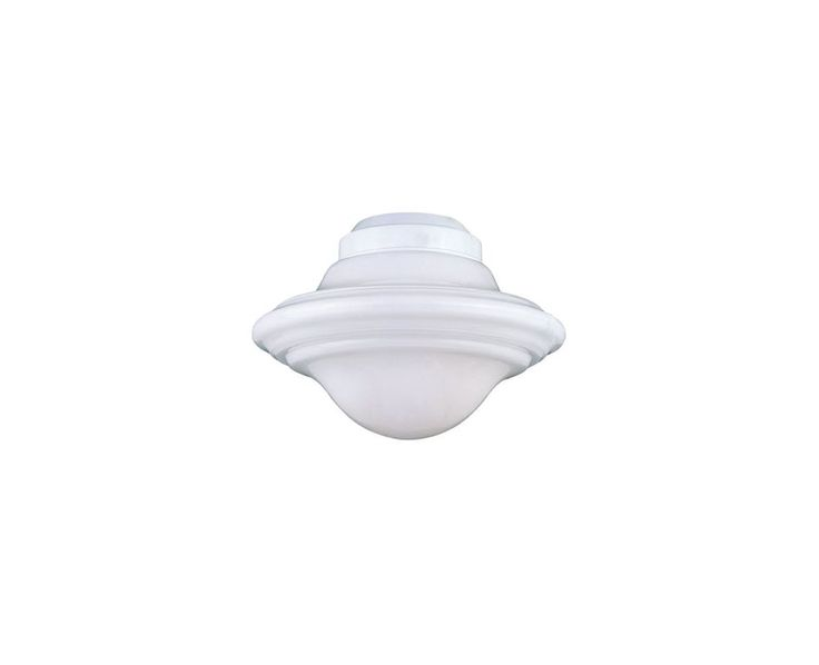 Savoy House KP-FLGC-PF Outdoor Living Single-Light Ceiling Fan Light Kit with Wh White Ceiling Fan Accessories Light Kits Light Kits