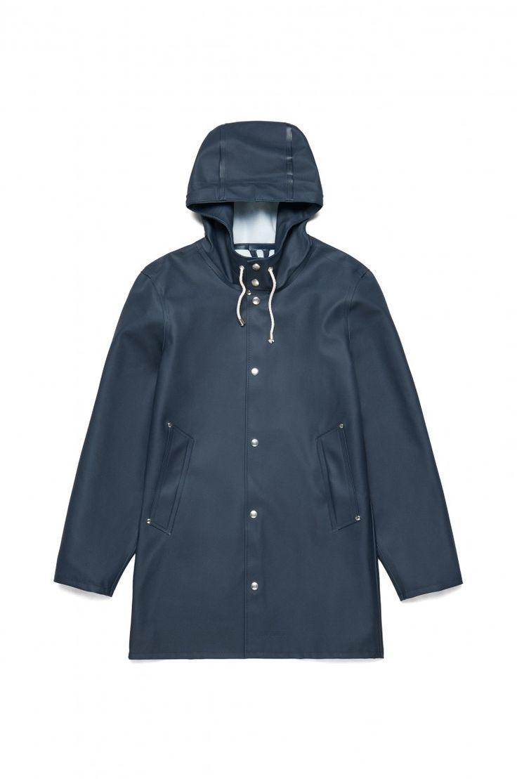 Stutterheim Stockholm Navy Raincoat – Stutterheim Raincoats