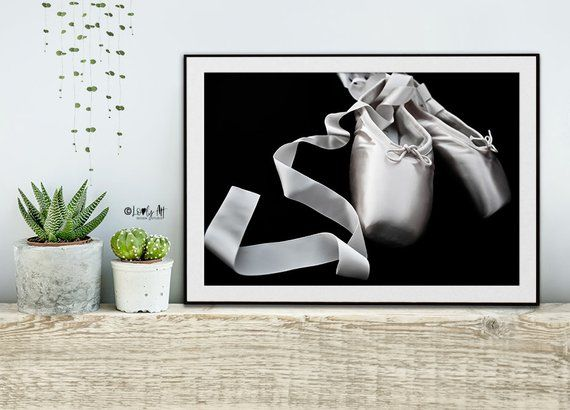 Ballerina Point Shoes Black And White Fine Art Photography Wall
