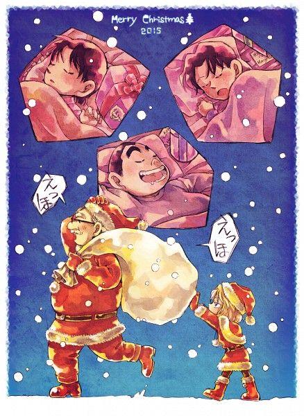 Detective Conan - Mitsuhiko, Genta, Ayumi, Professor Agasa, and Haibara Ai - Christmas