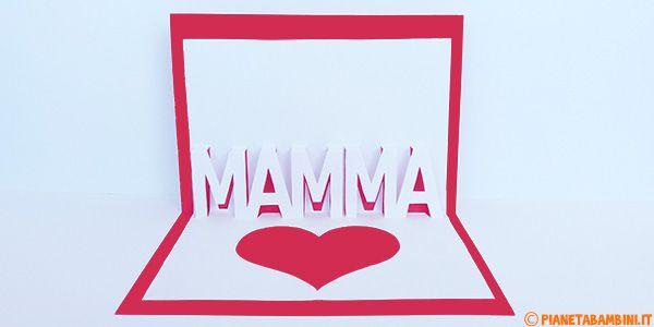 Biglietto Pop-Up per la Festa della Mamma da Stampare