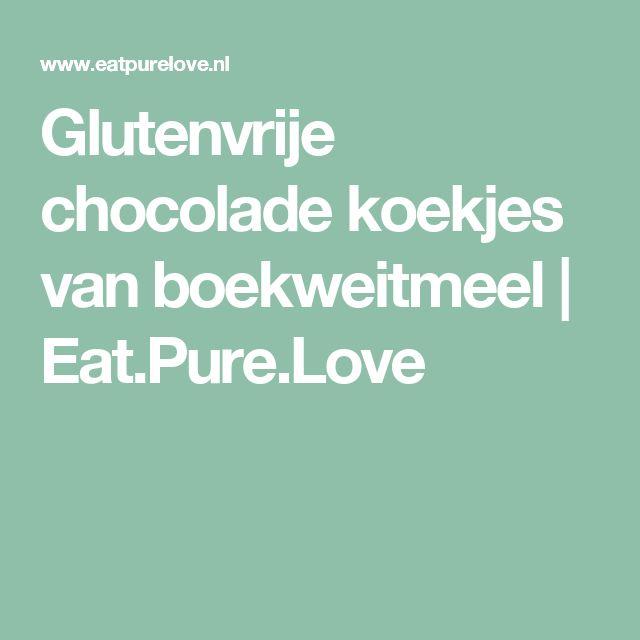 Glutenvrije chocolade koekjes van boekweitmeel | Eat.Pure.Love