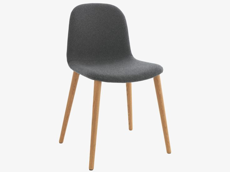 BACCO GREY Fabric Grey upholstered dining chair - HabitatUK